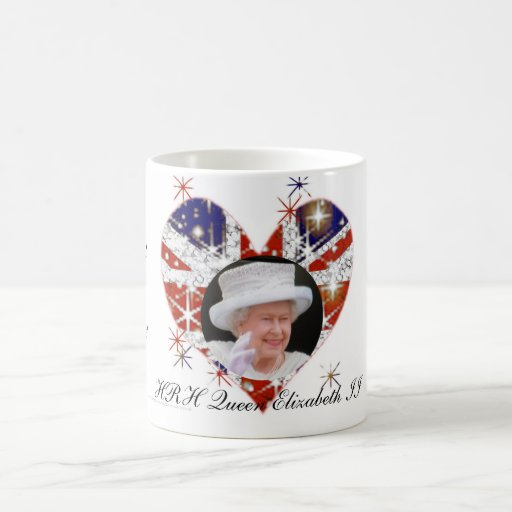 Queen Elizabeth Diamond Jubilee UK flag Classic White Coffee Mug