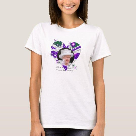 Queen Elizabeth Diamond Jubilee UK Flag T-Shirt