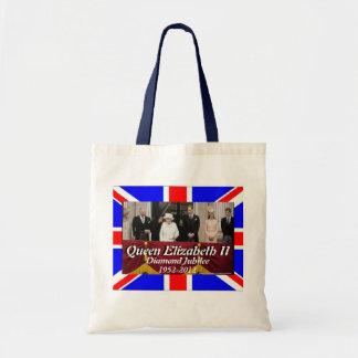 Queen Elizabeth family portrait jubilee flag bag
