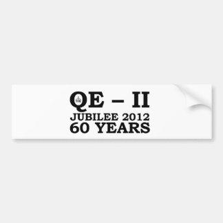 Queen Elizabeth Golden Jubilee Retro Car Bumper Sticker