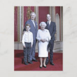 Queen Elizabeth & heirs stylized Announcement Postcard