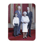Queen Elizabeth & heirs stylized Magnet