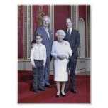 Queen Elizabeth & heirs stylized Poster