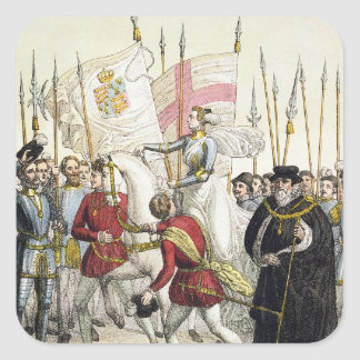 Queen Elizabeth I (1530-1603) Rallying the Troops Square Sticker