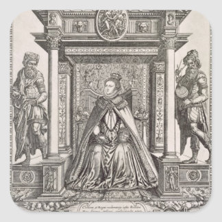 Queen Elizabeth I (1533-1603) as Patron of Geograp Square Sticker