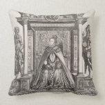 Queen Elizabeth I (1533-1603) as Patron of Geograp Throw Pillow