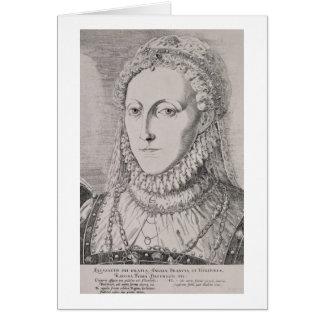 Queen Elizabeth I (1533-1603), c.1572-75 (engravin Card