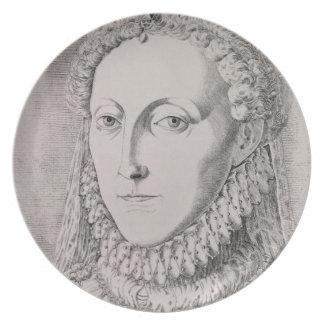 Queen Elizabeth I (1533-1603), c.1572-75 (engravin Dinner Plate