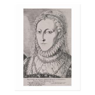 Queen Elizabeth I (1533-1603), c.1572-75 (engravin Post Card