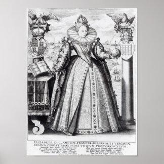 Queen Elizabeth I  1596 Poster