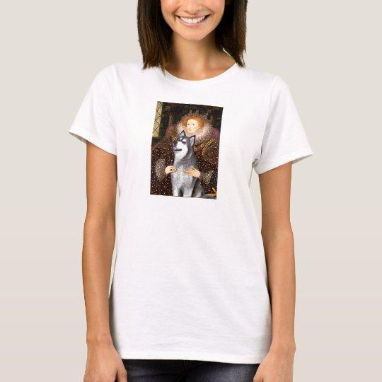 Queen Elizabeth I - Alaskan Malamute T-Shirt