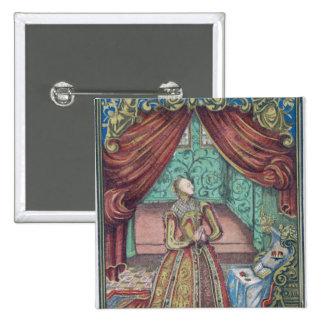 Queen Elizabeth I at Prayer, frontispiece Button