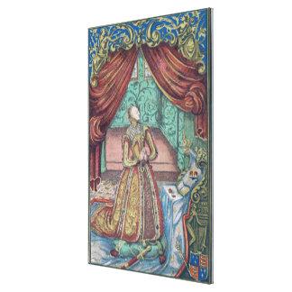 Queen Elizabeth I at Prayer, frontispiece Canvas Print
