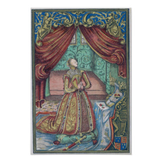 Queen Elizabeth I at Prayer, frontispiece Poster