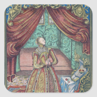 Queen Elizabeth I at Prayer, frontispiece Square Sticker