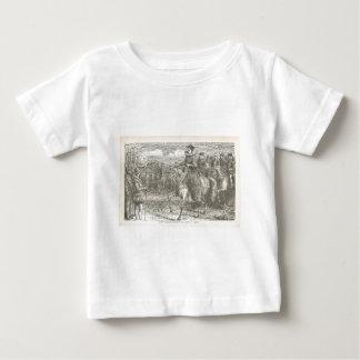 Queen Elizabeth I at Tilbury Antique Engraving Baby T-Shirt
