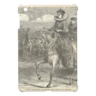 Queen Elizabeth I at Tilbury Antique Engraving iPad Mini Cover