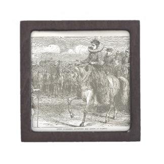 Queen Elizabeth I at Tilbury Antique Engraving Keepsake Box