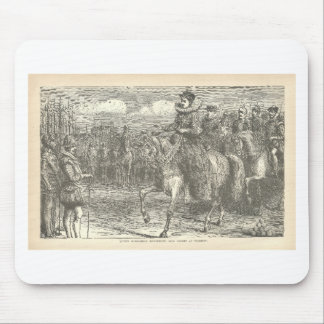 Queen Elizabeth I at Tilbury Antique Engraving Mouse Pad