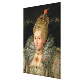Queen Elizabeth I bust length portrait see also Gallery Wrap Canvas