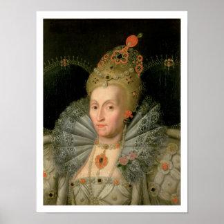 Queen Elizabeth I (bust length portrait) (see also Poster