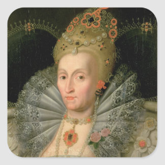 Queen Elizabeth I (bust length portrait) (see also Square Sticker