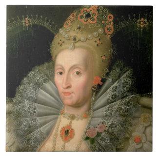 Queen Elizabeth I (bust length portrait) (see also Tile