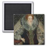 Queen Elizabeth I, c.1585-90 2 Inch Square Magnet