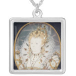 Queen Elizabeth I, c.1595-1600 Square Pendant Necklace