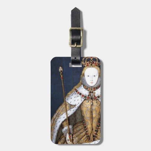 Queen Elizabeth I: Coronation Travel Bag Tag