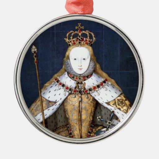 Queen Elizabeth I Coronation Christmas Tree Ornaments