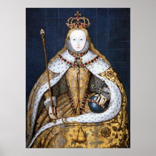 Queen Elizabeth I: Coronation Print