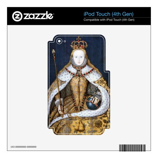 Queen Elizabeth I: Coronation Decal For iPod Touch 4G