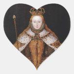 Queen Elizabeth I Heart Sticker