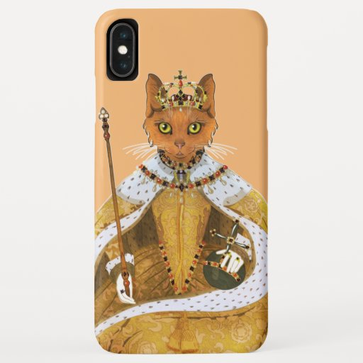 Queen Elizabeth I - historiCATS illustration iPhone XS Max Case