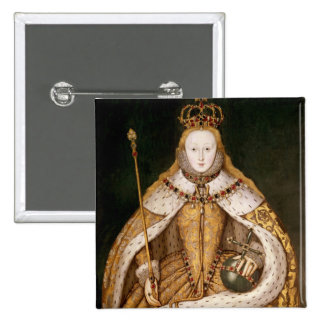Queen Elizabeth I in Coronation Robes 2 Inch Square Button