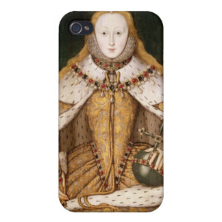 Queen Elizabeth I in Coronation Robes iPhone 4 Covers