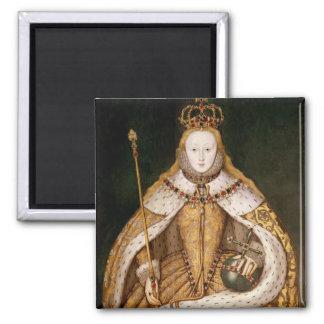 Queen Elizabeth I in Coronation Robes Refrigerator Magnets