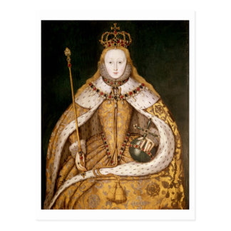 Queen Elizabeth I in Coronation Robes Postcard