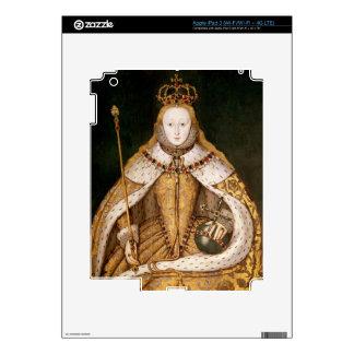 Queen Elizabeth I in Coronation Robes Skin For iPad 3
