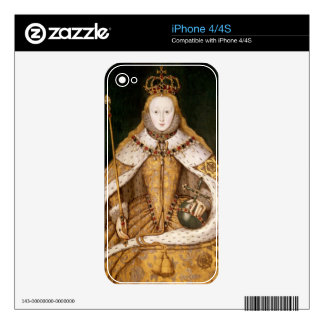 Queen Elizabeth I in Coronation Robes Skins For iPhone 4S