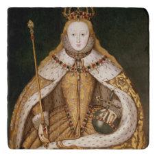 Queen Elizabeth I in Coronation Robes Trivet