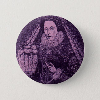 Queen Elizabeth I in lavender Pinback Button