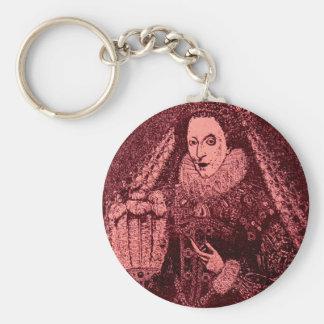 Queen Elizabeth I in pink Keychain
