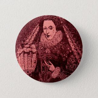 Queen Elizabeth I in pink Pinback Button