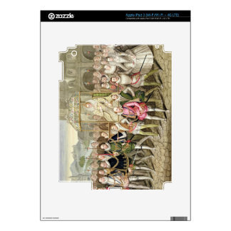 Queen Elizabeth I in procession with her Courtiers iPad 3 Decal