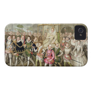 Queen Elizabeth I in procession with her Courtiers iPhone 4 Case-Mate Case