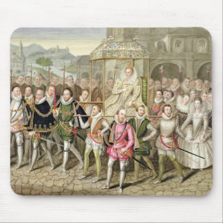 Queen Elizabeth I in procession with her Courtiers Mouse Pad