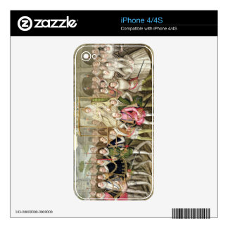 Queen Elizabeth I in procession with her Courtiers Skins For iPhone 4S