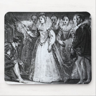 Queen Elizabeth I  Knighting Francis Drake Mouse Pad